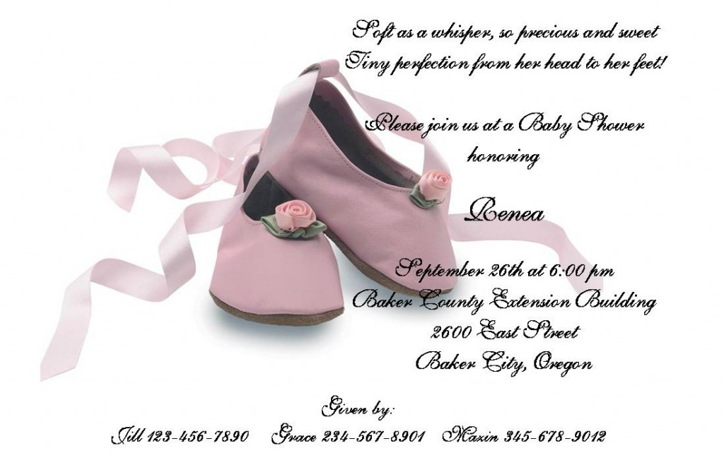 Sample Baby Shower Invitation 2